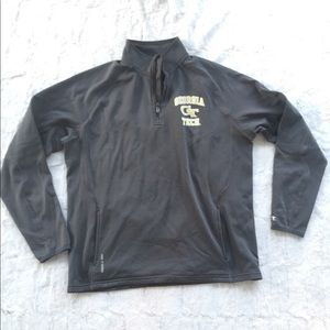 Champion Georgia Tech Pullover 3/4 ZIP Jacket Med